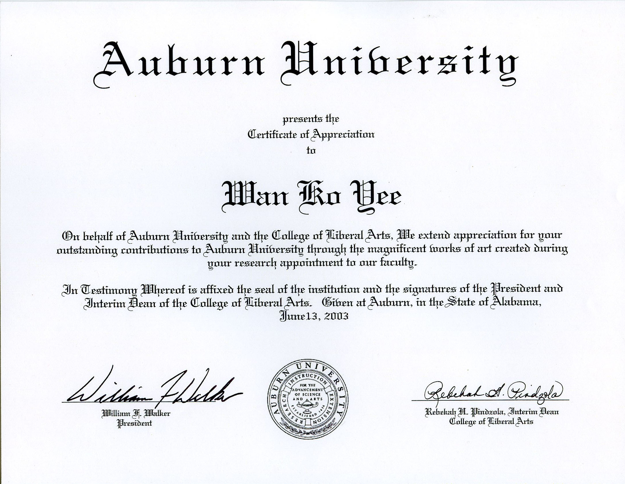 Certificate-of-Appreciation-issued-by-Auburn-University-to-honor-H.H.-Dorje-Chang-Buddha-III-while-His-Holiness-the-Buddha-was-a-professor-at-the-university