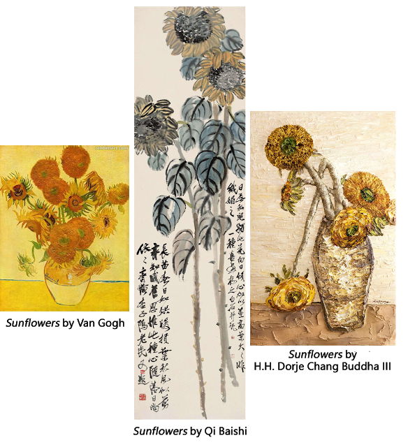 Vincent van Gogh, Qi Baishi, and H.H. Dorje Chang Buddha III Compared. Whose Artwork is the Best?